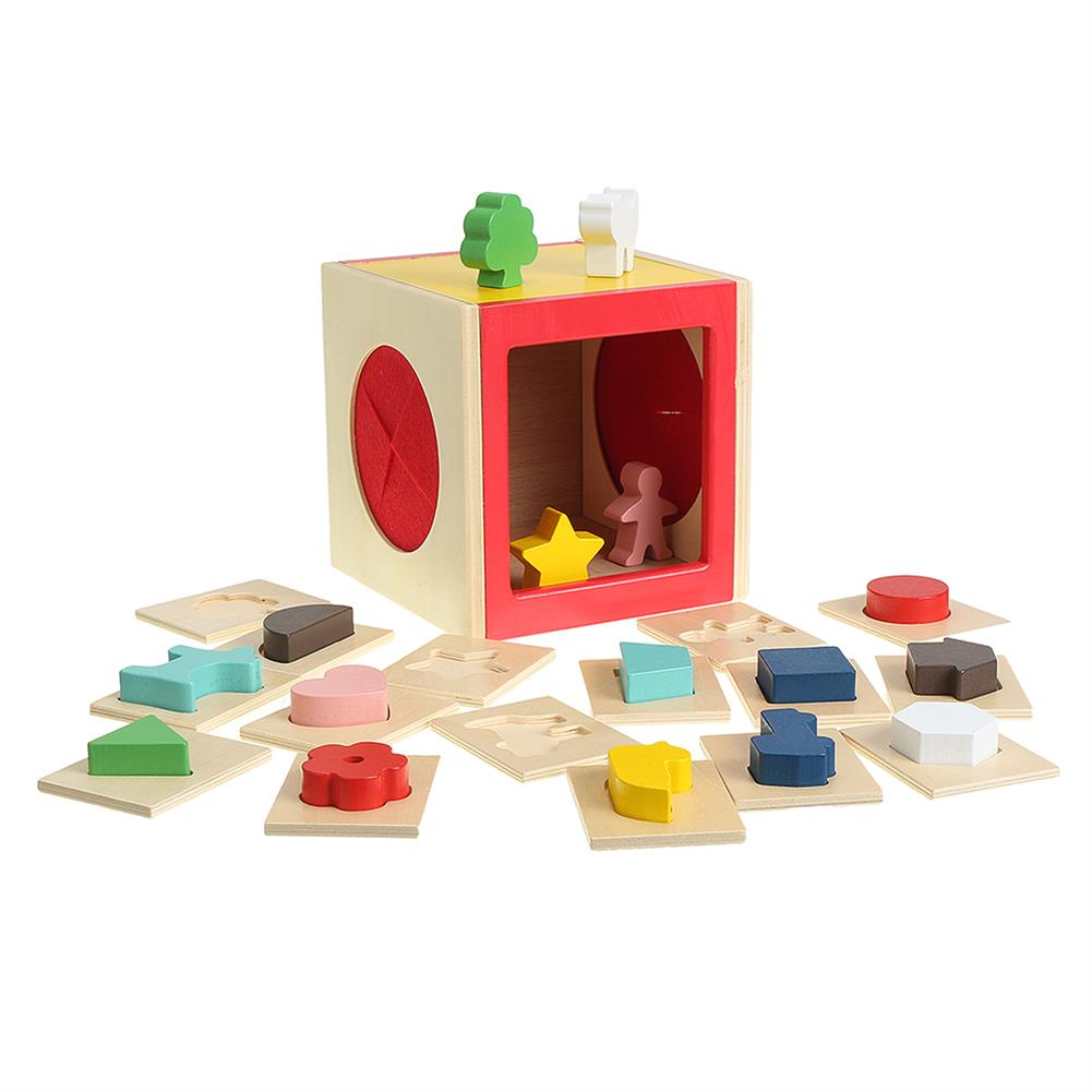 puzzle-game-toys Kids Memory Training Blind Box Color Cube Jigsaw Puzzle Box Wooden Guessing Toy HOB1530234