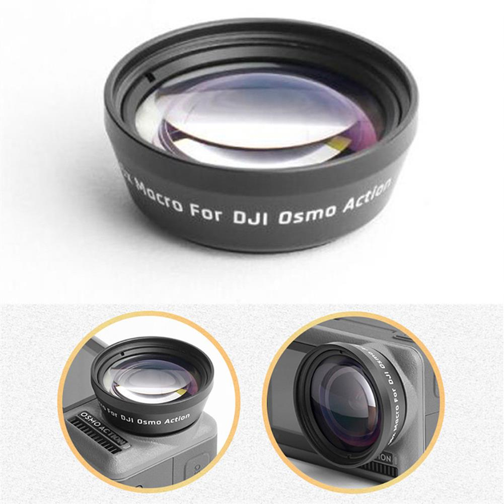 fpv-system Portable Anti-Shake 180 Degree Optical Glass Lens 15X Zoom HD Macro Lens Transmittance Lens Sports Filters for DJI OSMO Action Camera Accessories HOB1531043 1