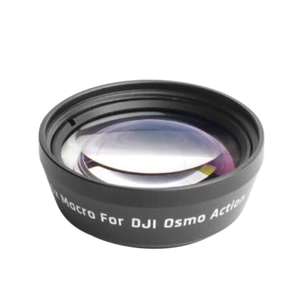 fpv-system Portable Anti-Shake 180 Degree Optical Glass Lens 15X Zoom HD Macro Lens Transmittance Lens Sports Filters for DJI OSMO Action Camera Accessories HOB1531043 2