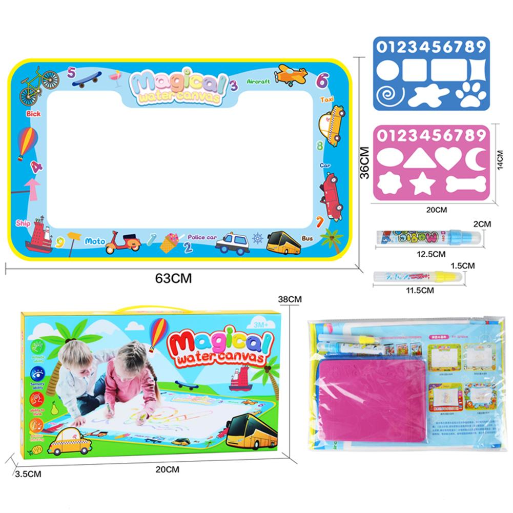 paper-art-drawing 68*38cm Magical Children's Multi-themed Water Canvas Water Clear Color Graffiti Drawing Board Educational Toys HOB1532814