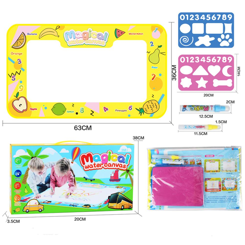 paper-art-drawing 68*38cm Magical Children's Multi-themed Water Canvas Water Clear Color Graffiti Drawing Board Educational Toys HOB1532814 1