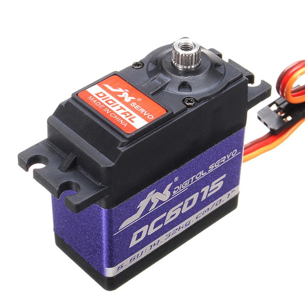 rc-servos 4PCS JX DC6015 14.32KG DC Metal Gear High Torque Standard Angle Digital Servo for RC Model Transmitter Radio HOB1536340 1