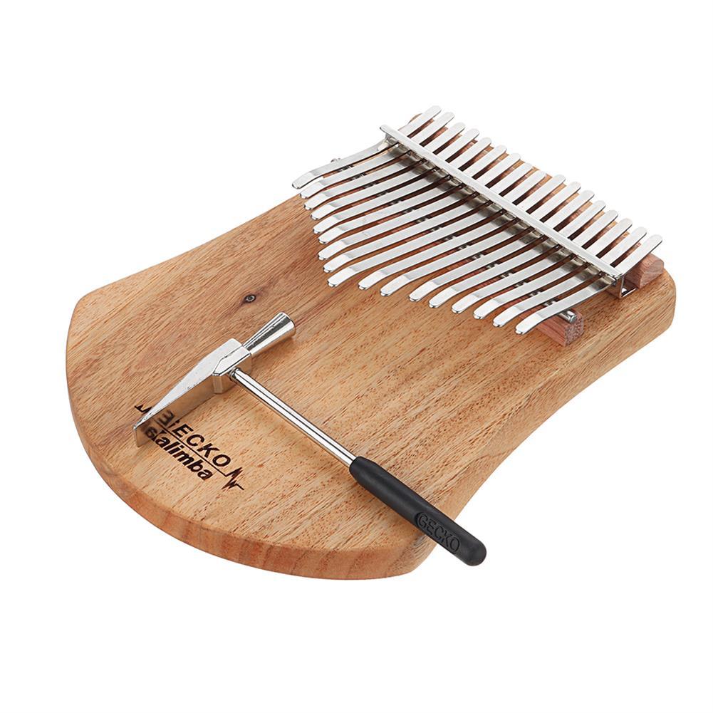 kalimba GECKO K17CAS 17 Keys Kalimba Camphor Wood Thumb Finger Piano with Bag Set HOB1536951 1