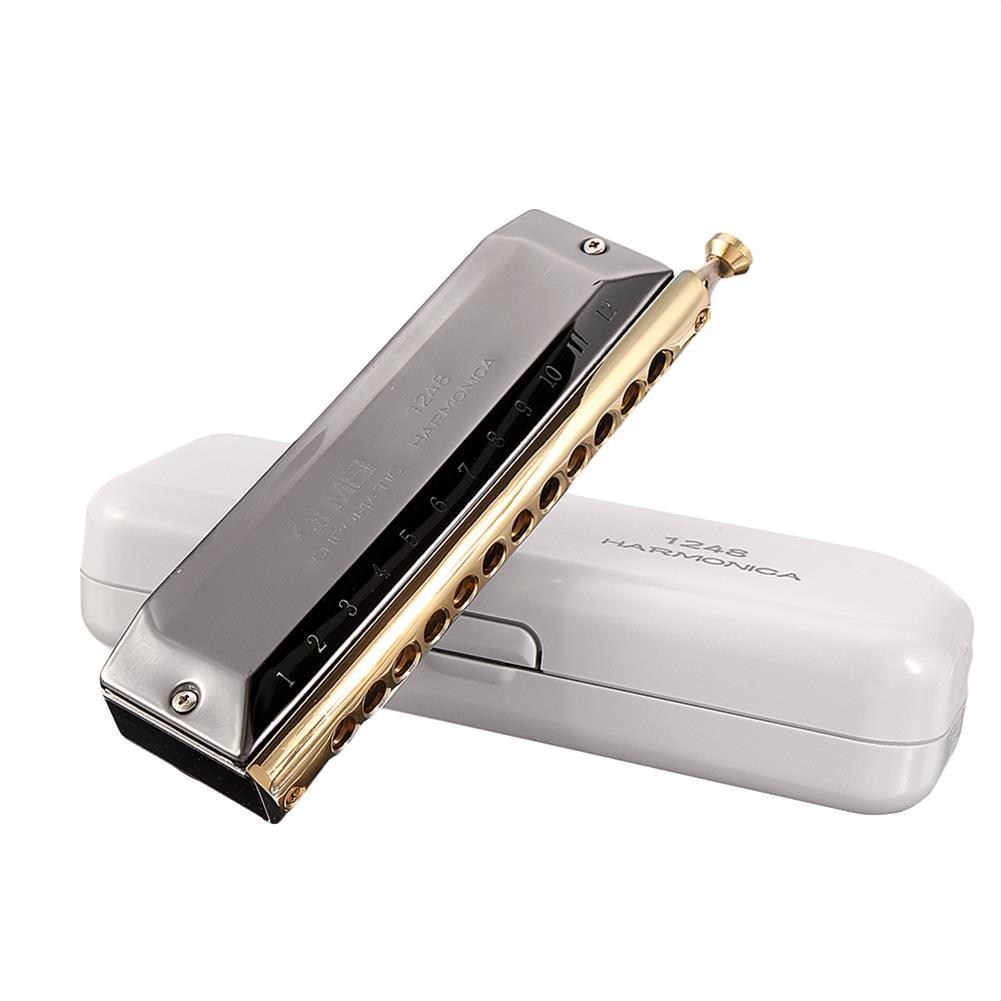harmonica QIMEI QM12A-4 12 Holes 48 Tones Chromatic Harmonica HOB1536954