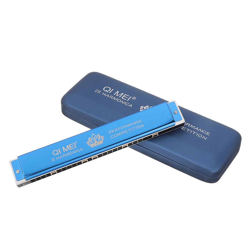 harmonica QIMEI QM28A-6 28 Holes C Key Polyphonic Harmonica for Performance Competition HOB1537025 1