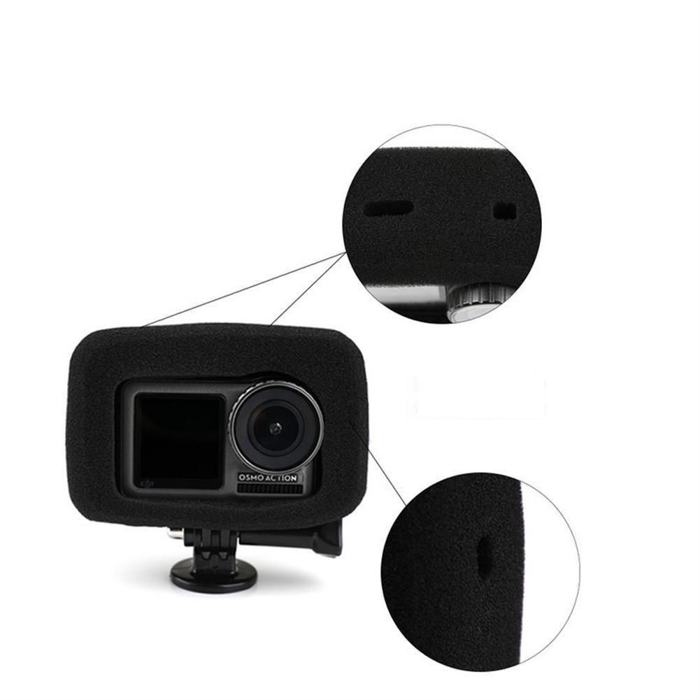 fpv-system Sponge Windshield Noise Reduction Black for DJI OSMO Action Sport Camera HOB1541593 1