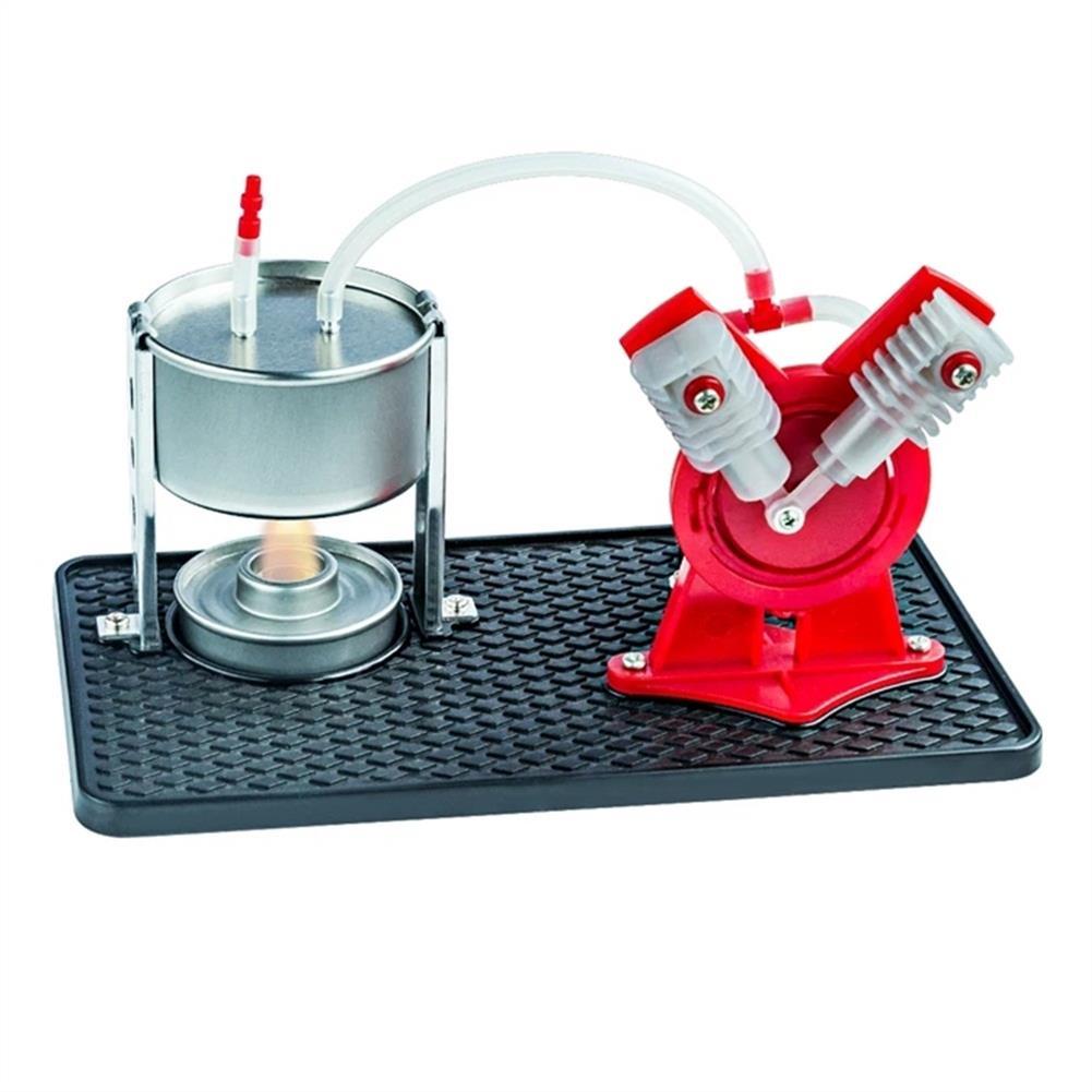 science-discovery-toys STEAM EK-D029 Steam Engine Model Kit Led Generator Science Education DIY Toy HOB1543129