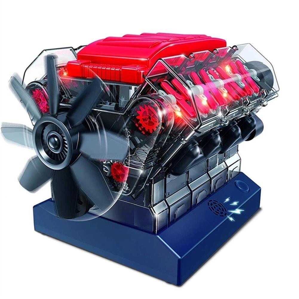science-discovery-toys V8 Combustion Engine Model Building Kit STEM Toy HOB1543130