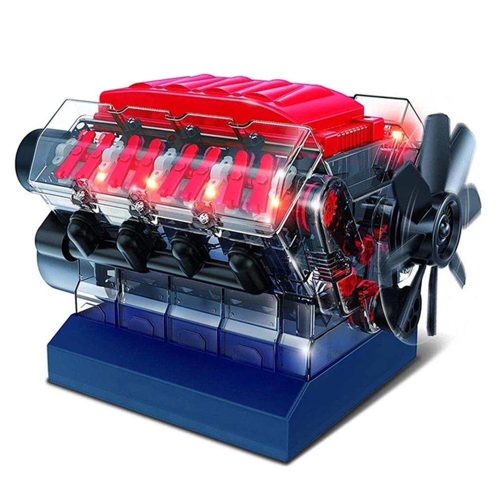 science-discovery-toys V8 Combustion Engine Model Building Kit STEM Toy HOB1543130 1