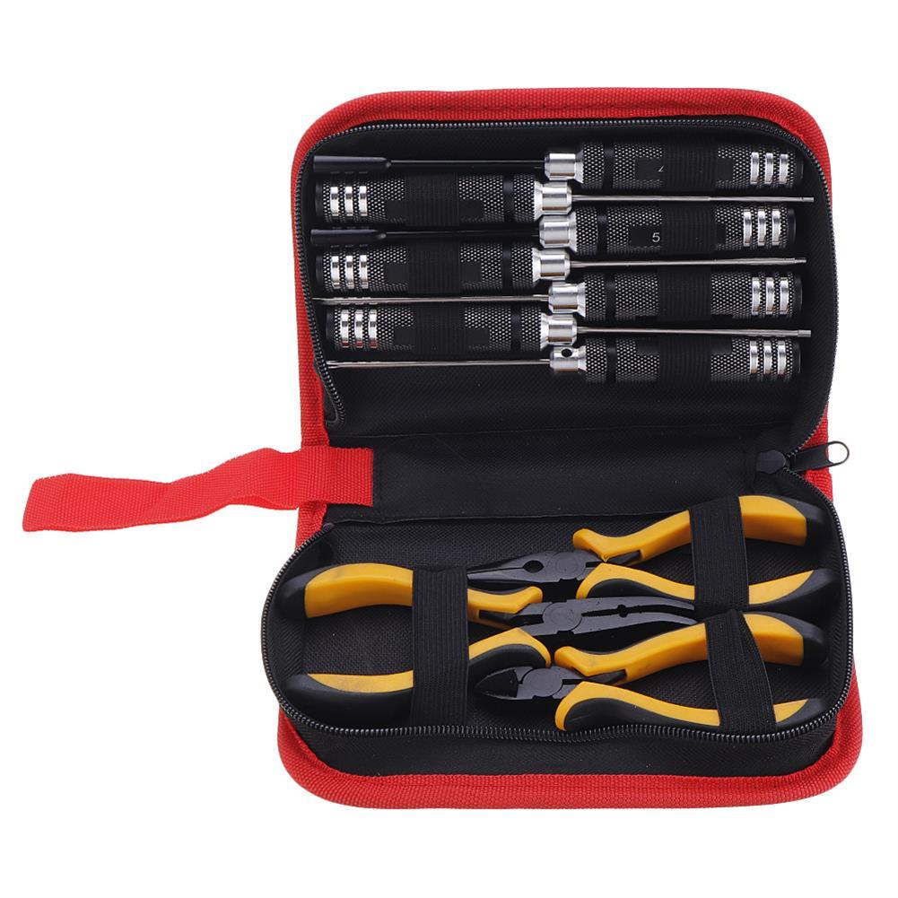 tools-bags-storage Yunzhong YZ053 10Pcs Slotted Phillips Hex Screwdriver Pilers Tools Box Set HOB1547054