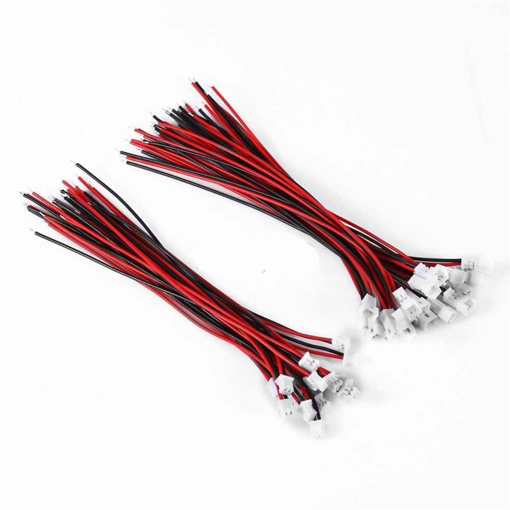 connector-cable-wire 10PCS PH1.25 Soft Silicone Connector Cable Wire Male Female Head for RC Drone Spare Parts Kingkong Tiny 6 Hollow Cup DIY Line HOB1549021