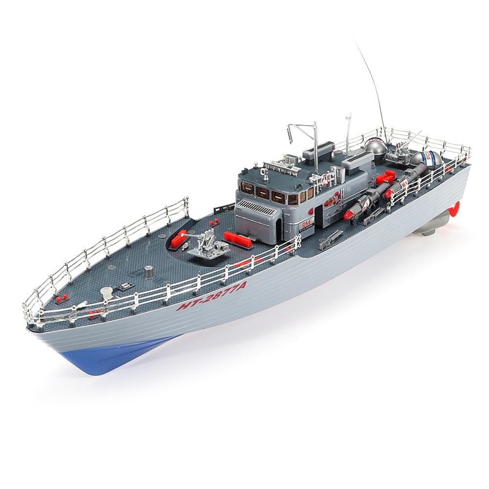 rc-boat 1/115 2.4G EHT-2877 Missile Destroyer RC Boat 4km/h with 2 Motor And Light Vehicle Models HOB1552002