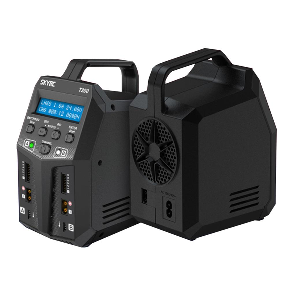 battery-charger SKYRC T200 2X100W 12A AC/DC DUAL Battery Balance Charger for 1-6S Lipo/LiHV/LiFe/LiIon Battery HOB1553280 1