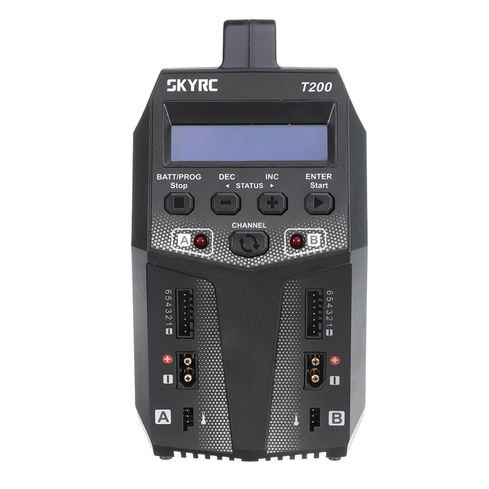 battery-charger SKYRC T200 2X100W 12A AC/DC DUAL Battery Balance Charger for 1-6S Lipo/LiHV/LiFe/LiIon Battery HOB1553280 2