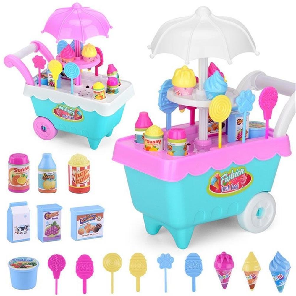 doll-house-miniature-19 PCS Mini Candy Cart Detachable Ice Cream Shop Cart DIY Decoration Toys-HOB1555042