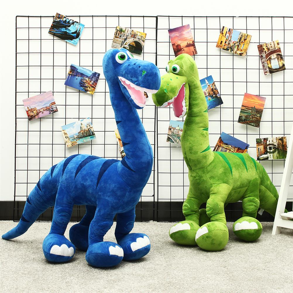 puzzle-game-toys Blue/Green Dinosaur Doll Plush Cute Large Toys Animal Stuffed Soft Pillow Baby Kids Gift HOB1557192 2