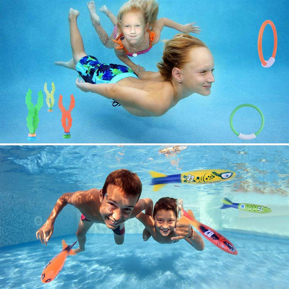 puzzle-game-toys 17Pcs Underwater Swimming Diving Pool Toys Kids Fun Dive Training Toy HOB1557531 1