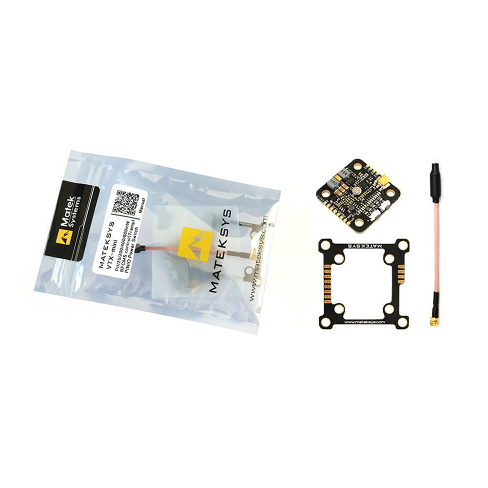 fpv-system Matek System VTX-MINI 5.8G 40CH Pit/25/200/400/800mW FPV Video Transmitter for FPV Racing RC Drone HOB1557663 3