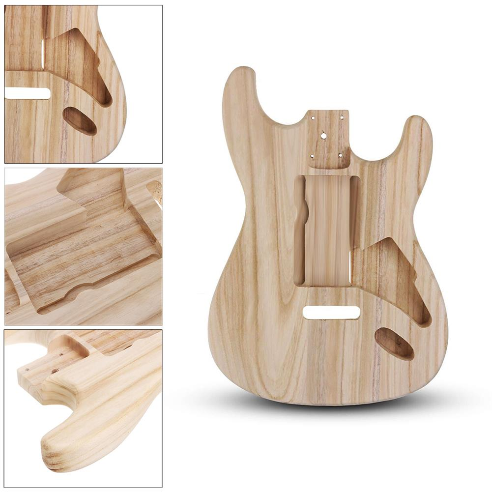 guitar-accessories DIY Polished Maple Wood Type ST Electric Guitar Barrel Body for Guitar Replace Parts HOB1561821 2