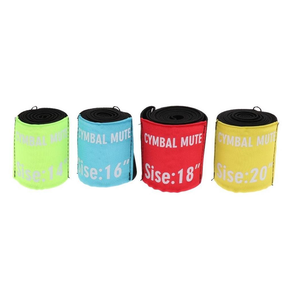 percussion-accessories 4 Pcs Drum Set Mute Hi-hat Cymbal Mute for 14 16 18 20 inch Bract HOB1568709 1