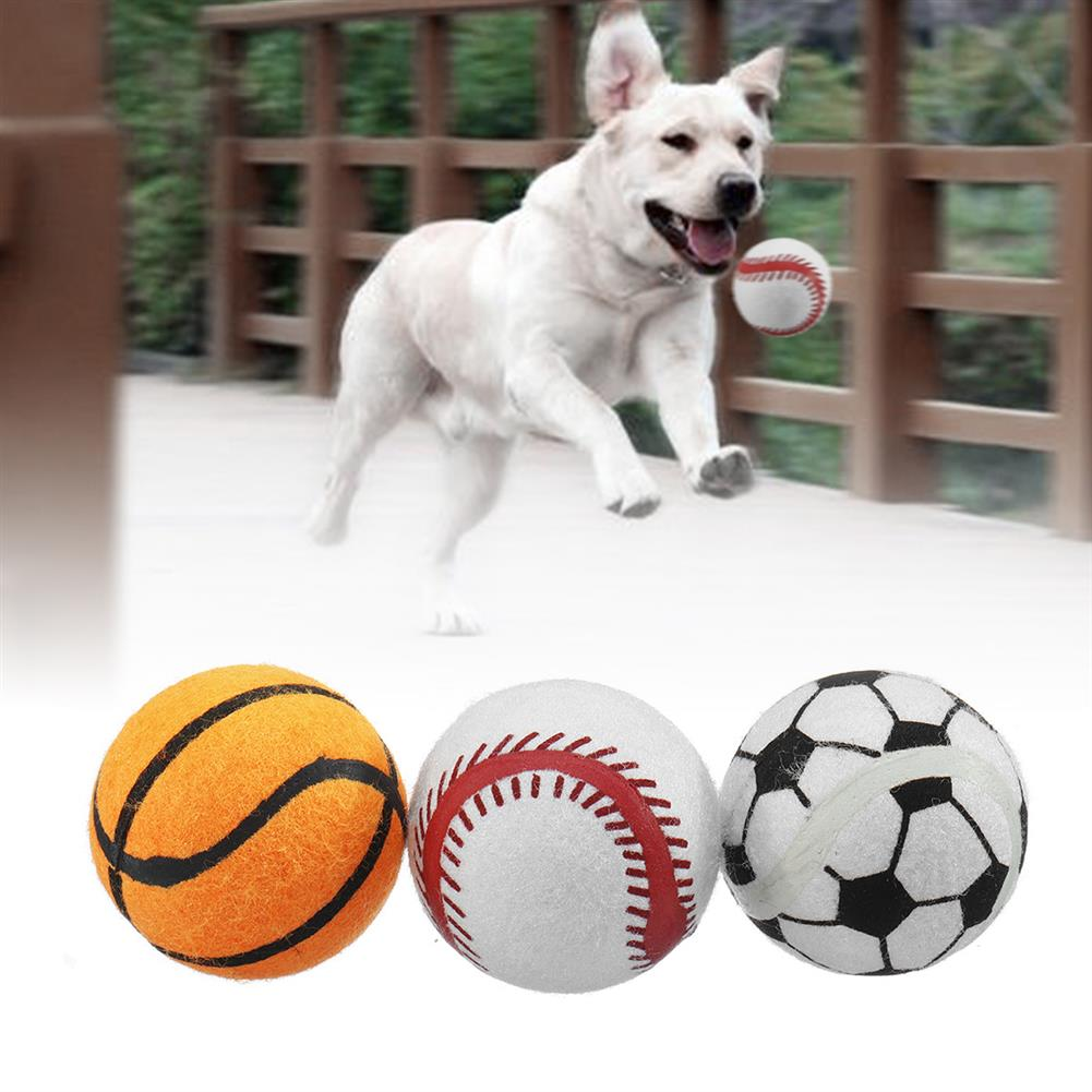 puzzle-game-toys 3PCS Puppy Pet Dog 10nis Ball Toys Fetch Thrower Roller Play Hyper Training Game HOB1569019