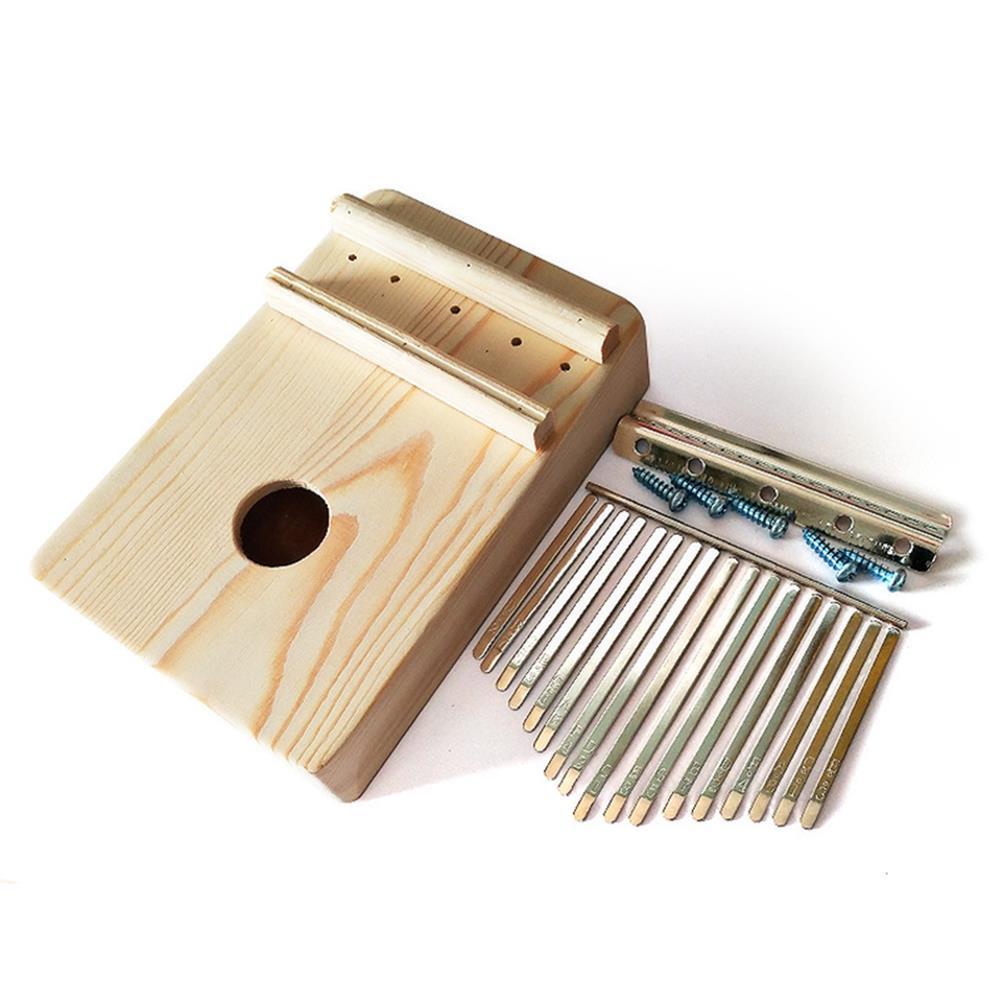 kalimba 17 Key Mbira DIY Kit Finger Thumb Piano for Handwork Painting Musical instrument HOB1569663