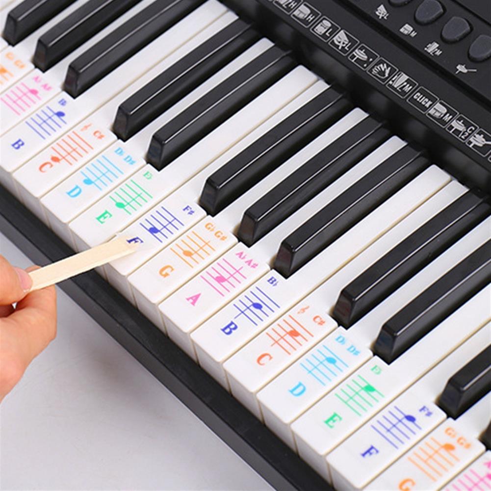 keyboard-accessories Debbie QT-005 Piano Keyboard Note Sticker for 61/88 key Electronic Keyboard HOB1570945 1