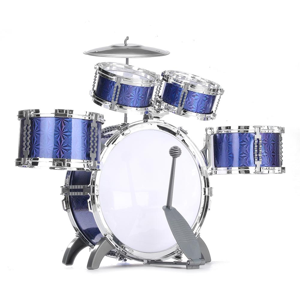 drum-sets Kids Jazz Drum Set Kit Musical Educational instrument 5 Drums 1Cymbal with Stool Drum Sticks Percussion instrument HOB1570948 1