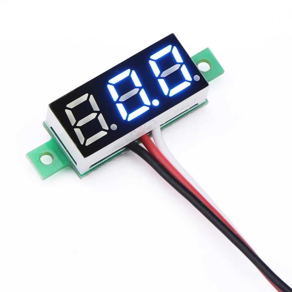 tools-bags-storage 0.28 inch LED Ultra Small 0-100V DC Digital Voltmeter Battery Voltage Tester for RC Model HOB1571004
