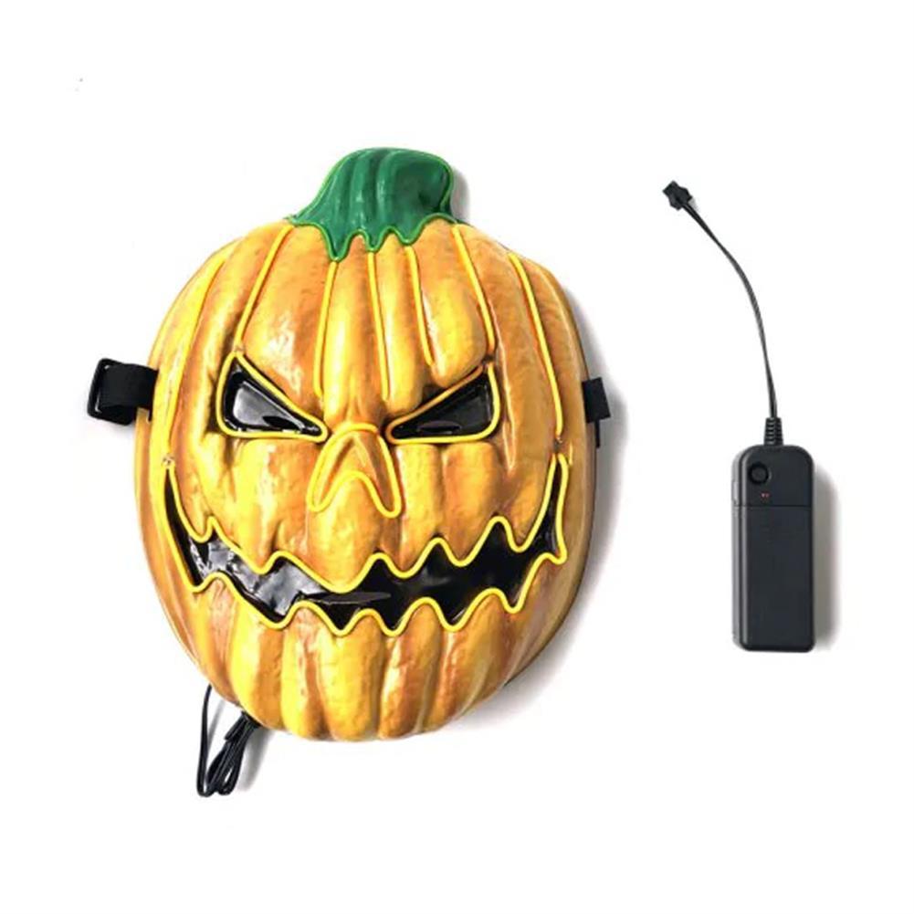 mask-costumes Halloween LED Mask Fluorescent Pumpkin Style Terror EK Glowing Mask for Decoration HOB1580600