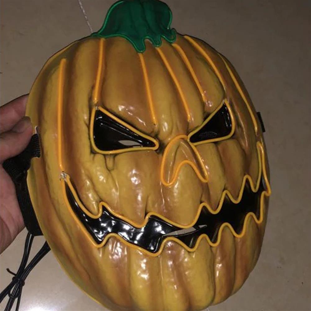 mask-costumes Halloween LED Mask Fluorescent Pumpkin Style Terror EK Glowing Mask for Decoration HOB1580600 1