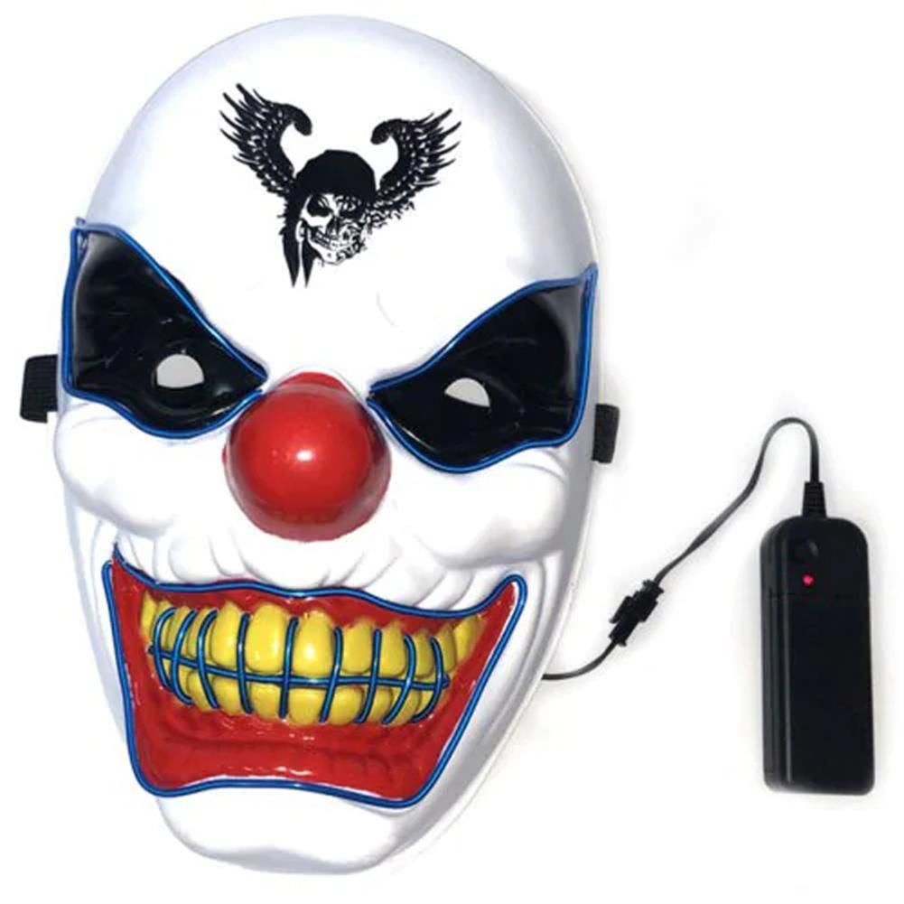 mask-costumes Halloween Clown LED Glow Mask Festival Supplies Props Scary El Lighting Mask for Decoration HOB1580602