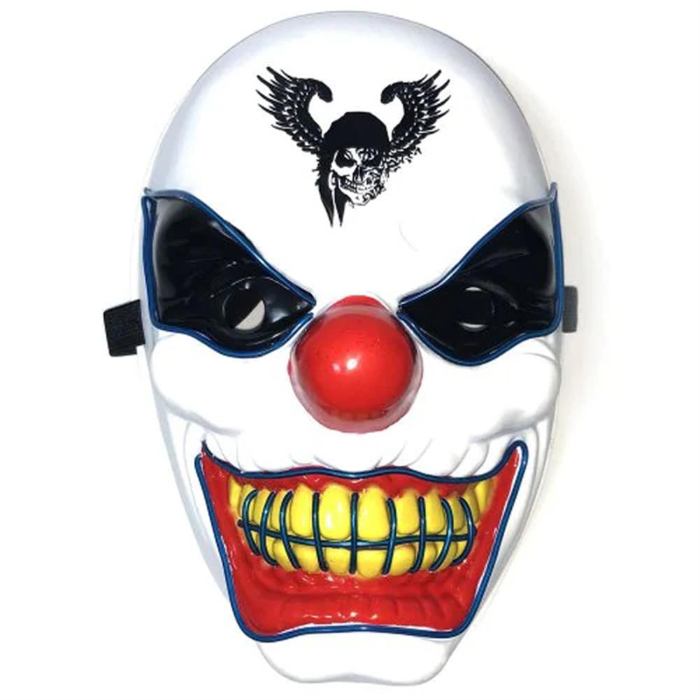 mask-costumes Halloween Clown LED Glow Mask Festival Supplies Props Scary El Lighting Mask for Decoration HOB1580602 1