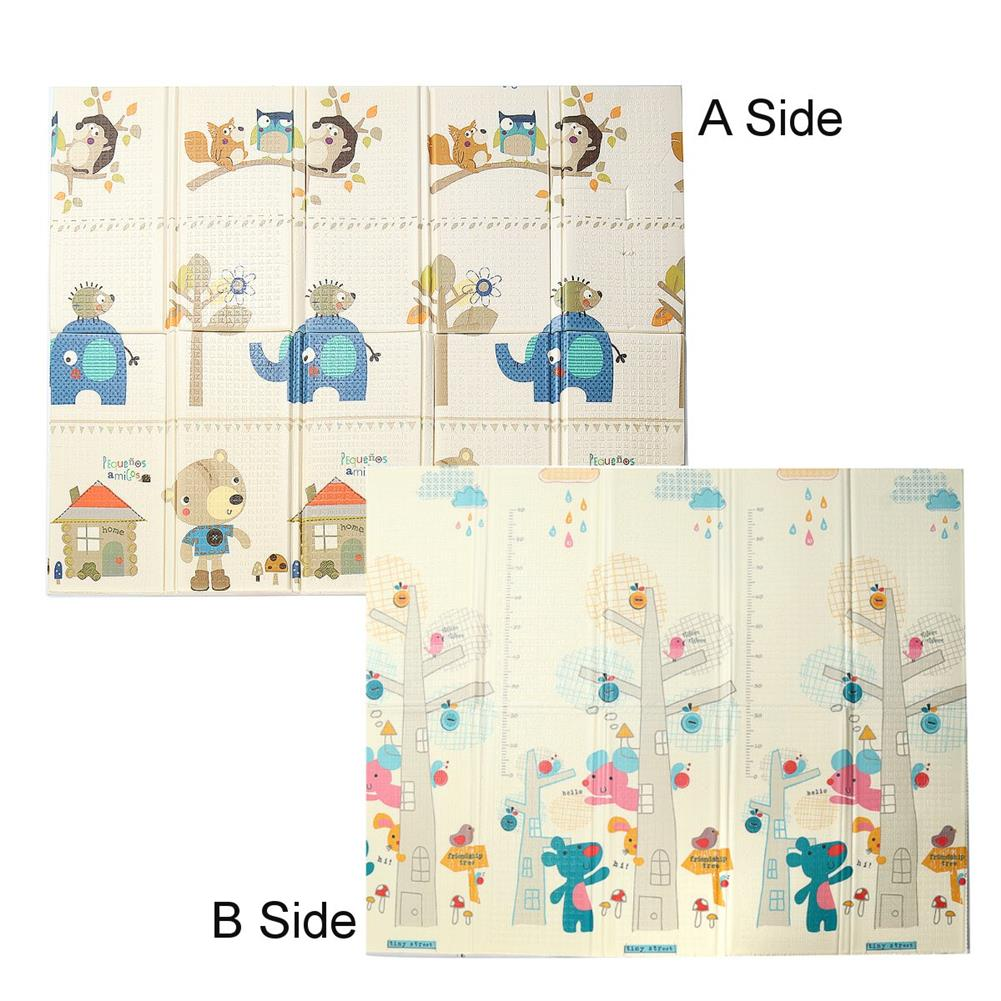play-mats 200x180cm 2 Sides Baby Crawling Thick Play Cover Mat Folding Rug Floor Carpet HOB1581272 1