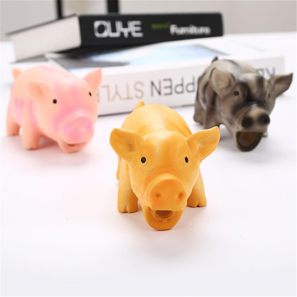 puzzle-game-toys Latex Pig Shape Toy Grunting Sound Dog Puppy Chewing Squeaker Pet Funny Playing Toys HOB1583107 1
