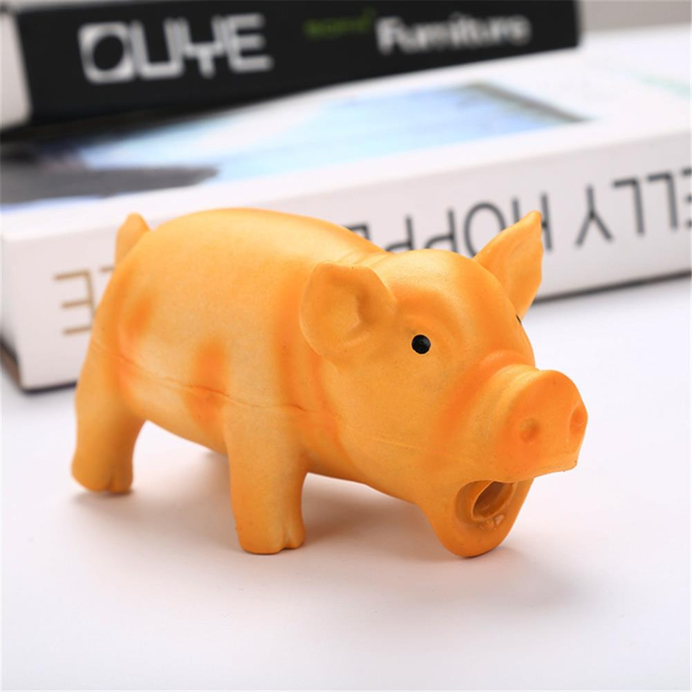 puzzle-game-toys Latex Pig Shape Toy Grunting Sound Dog Puppy Chewing Squeaker Pet Funny Playing Toys HOB1583107 3