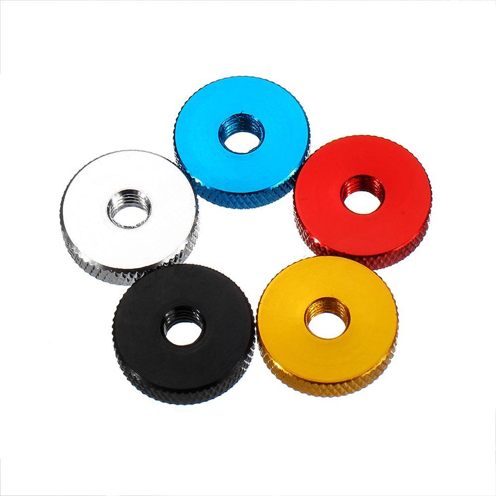 tools-bags-storage 10Pcs M6 Manual Knurled Thumb Aluminum Alloy Screw Nut Spacer Flat Washer HOB1583444