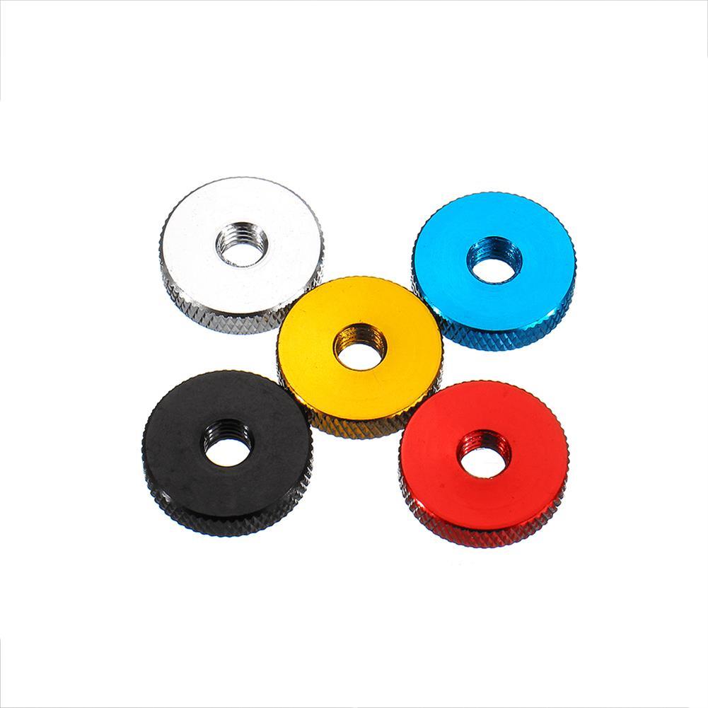 tools-bags-storage 10Pcs M6 Manual Knurled Thumb Aluminum Alloy Screw Nut Spacer Flat Washer HOB1583444 1