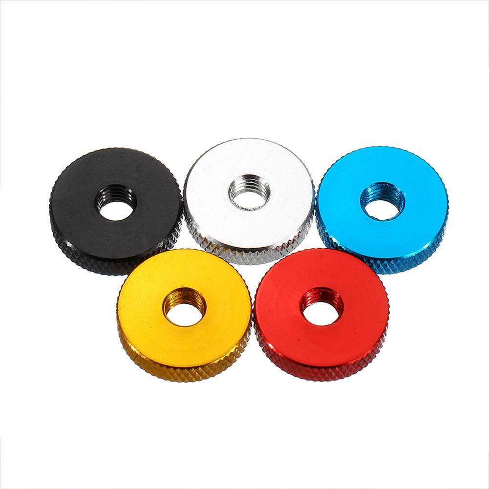 tools-bags-storage 10Pcs M6 Manual Knurled Thumb Aluminum Alloy Screw Nut Spacer Flat Washer HOB1583444 2