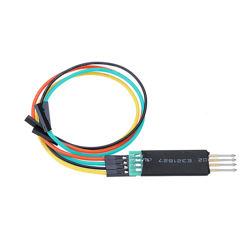 tools-bags-storage 2.54mm 4P ARM Burning Download Line Thimble Test Spring Pin Probe Board 51.5x13mm DIY Spare Parts for RC Drone FPV HOB1583454