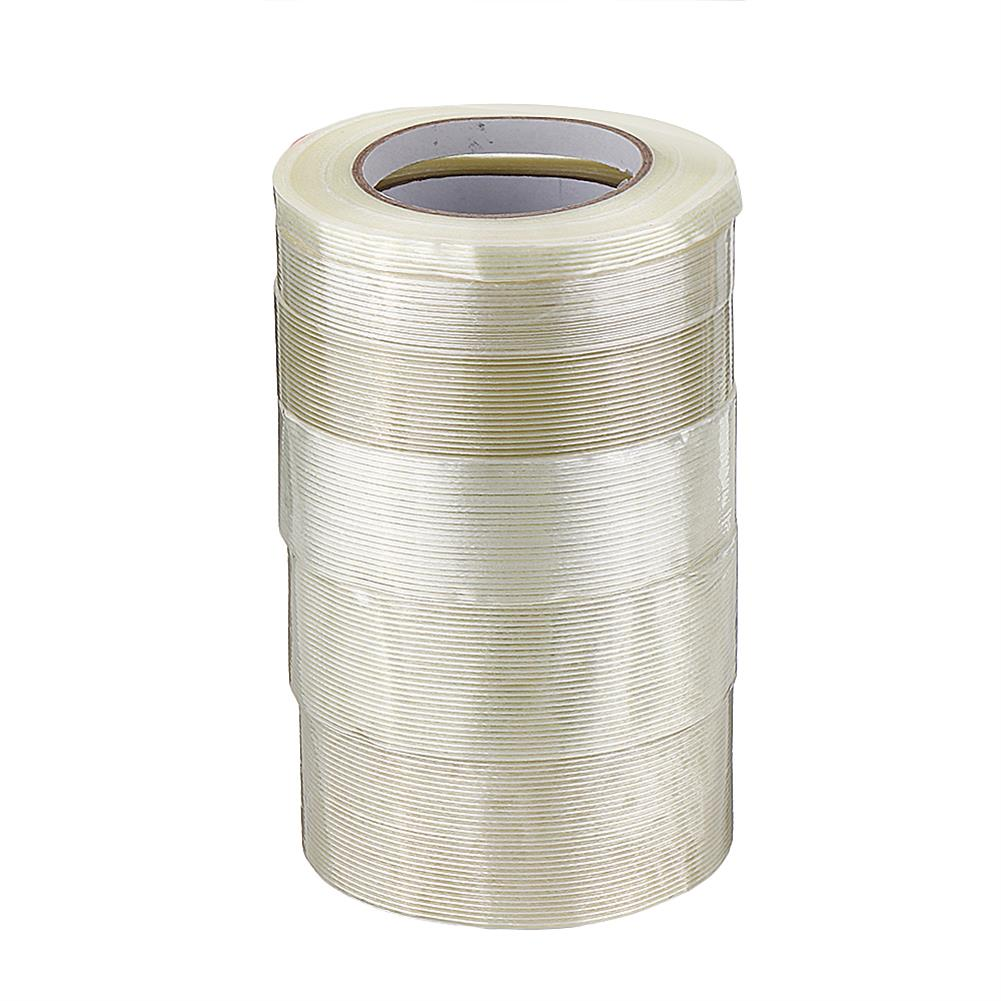 tools-bags-storage 10-50mmX50m High Strength Transparent Fiber Tape Adhesive Tape for RC Model HOB1583534