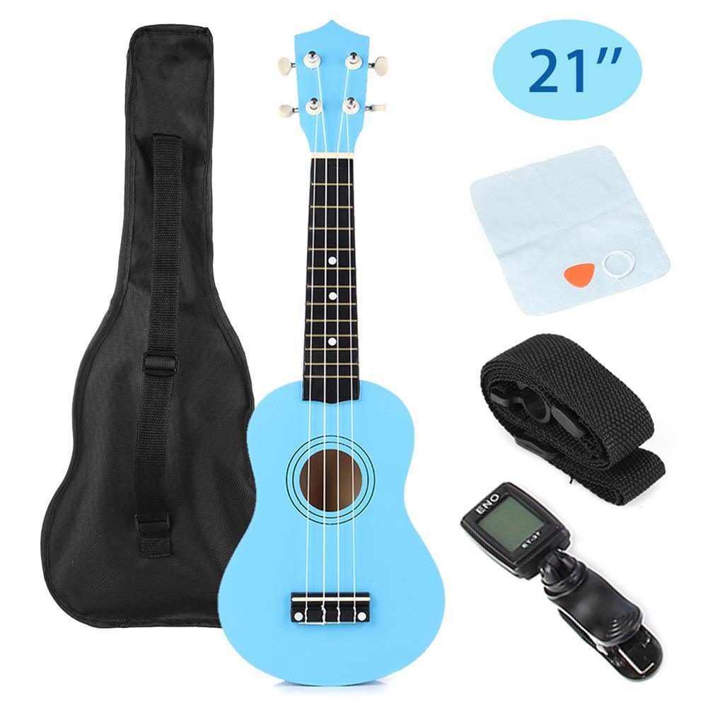 ukulele 21 inch 12 Fret Basswood Soprano Ukulele Uke Musical instrument with Gig bag Strings Tuner HOB1584591
