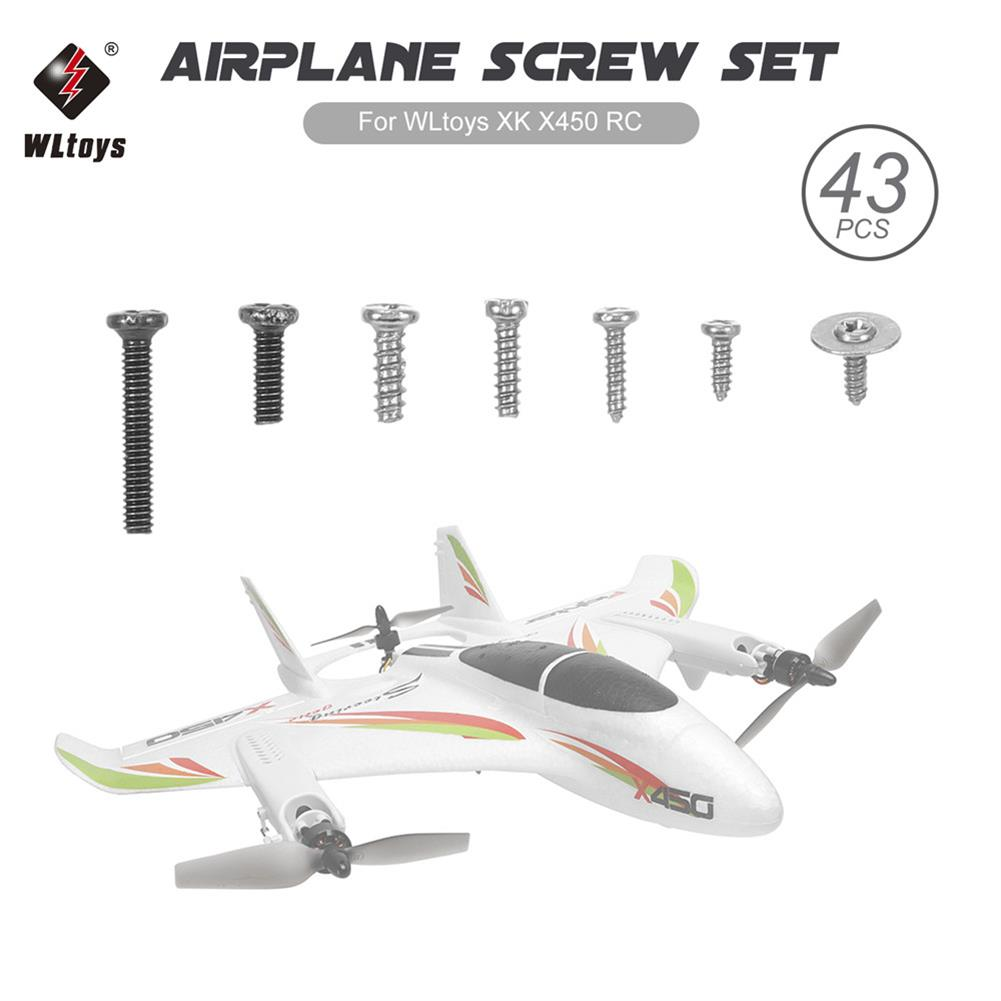 rc-airplane-parts Wltoys XK X450 RC Airplane Aircraft Fixed Wing Screw Set Screw Nuts RC Spare Parts HOB1586139 1