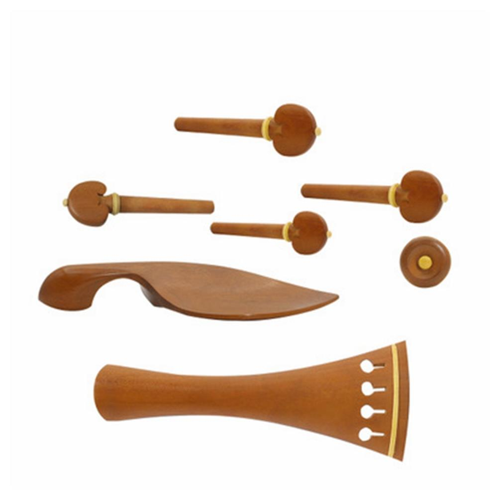 strings-accessories 1 Set VL-10 Jujube Wood Tuner Pegs Polished Ebony Fiddle Pegs Violin Parts for 4/4 Violin HOB1589722