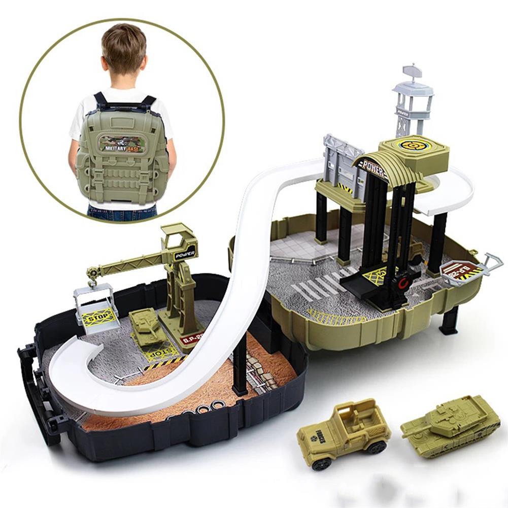 puzzle-game-toys DIY Wheels Magic Track Car Model Toys Kids Boys Knapsack Bag Gifts HOB1590155