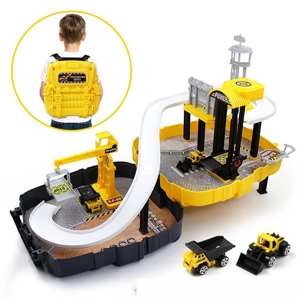 puzzle-game-toys DIY Wheels Magic Track Car Model Toys Kids Boys Knapsack Bag Gifts HOB1590155 1