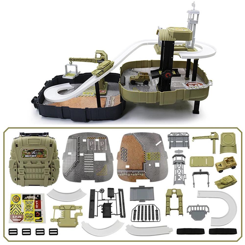 puzzle-game-toys DIY Wheels Magic Track Car Model Toys Kids Boys Knapsack Bag Gifts HOB1590155 2