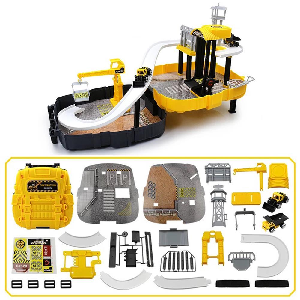 puzzle-game-toys DIY Wheels Magic Track Car Model Toys Kids Boys Knapsack Bag Gifts HOB1590155 3