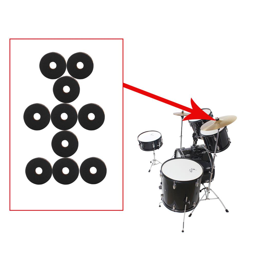 percussion-accessories 10 Packs IRIN MD139 Drum Cymbal Felt Pad Protection Round Separator Drum Mat for Drum Bracts HOB1590218