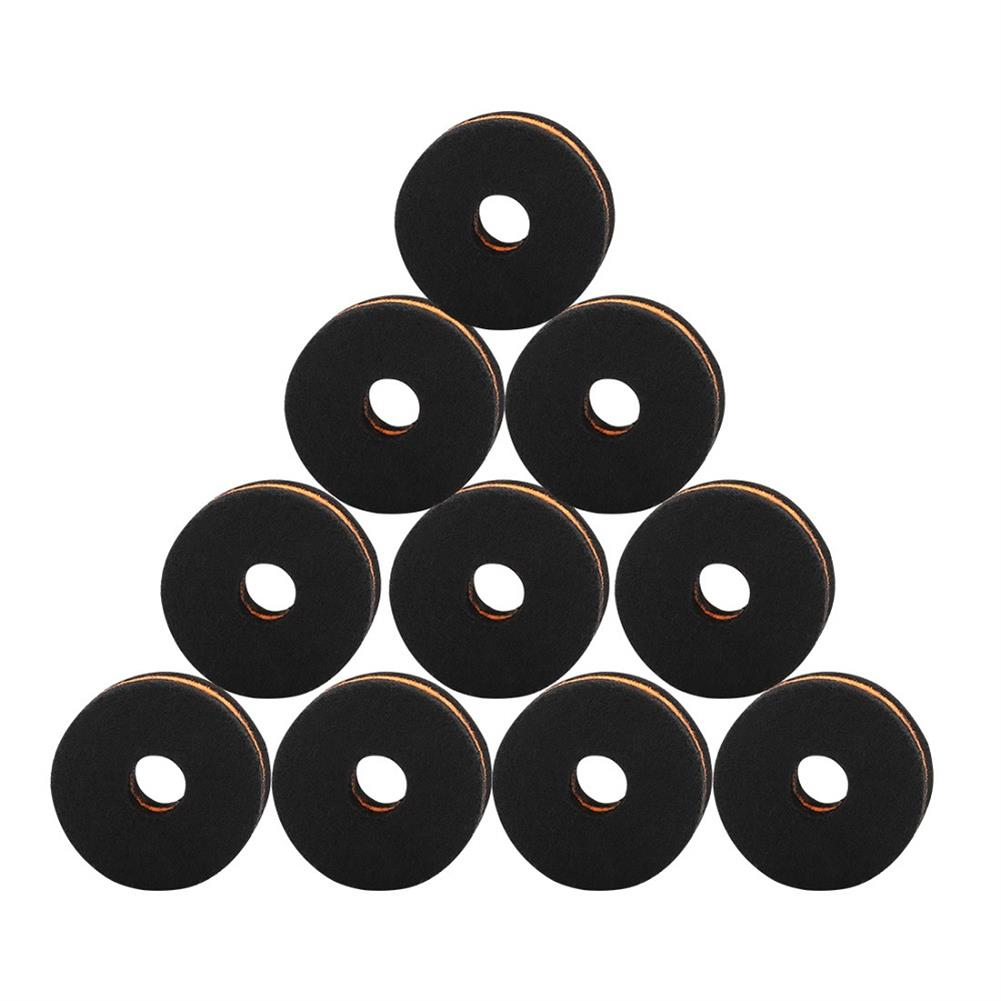percussion-accessories 10 Packs IRIN MD139 Drum Cymbal Felt Pad Protection Round Separator Drum Mat for Drum Bracts HOB1590218 1